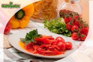 Le squisivoglie home prodotti vegetali olive verdi olive nere carciofi funghi pomodori - Cucinare i peperoni ...